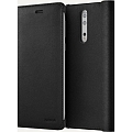 Чехол Nokia для Nokia 8 Leather Flip Cover Black