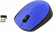 Мышь Logitech M171 Wireless Mouse Blue-Black USB