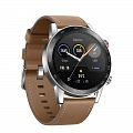 Смарт часы Honor Watch Magic 2 46mm (stainless steel, leather strap) Brown